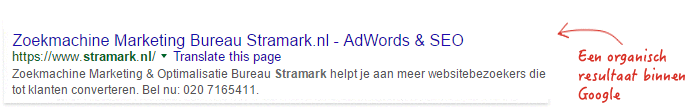 zoekmachine marketing serp
